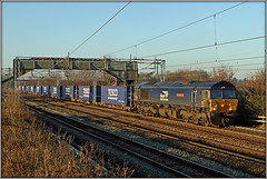 66421, 4M54 (Jason 87030) Tags: shed drs tesco tossers shit crap diesel blue easenhall brinklow loop rails light shot shoot session 66421 frecht freight containers december 2019 goods directrailservices tees docks crick dirft daventry terminal rail transportation load