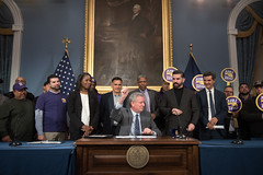 Intro. 1321-C Signing (nycmayorsoffice) Tags: bill signing bills workersrights citycouncil newyork ny usa