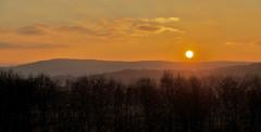 Leith Hill Sunset (Deepgreen2009) Tags: sunset surrey hills leithhill glow orange sky brilliance