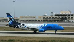 Liberally Blue (ƒliçkrwåy) Tags: sugdk embraer 170 erj lmml mla egyptair express airliner airline aviation aircraft malta luqa