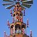 Mannheim, Weihnachtsmarkt am Wasserturm, Pyramide  (Christmas Market at the Water Tower, pyramid)