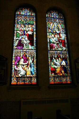 Stained glass windows, Notre-Dame-De-Saint-Roch, Quebec City, Quebec