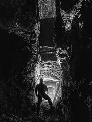 Stope Silhouette (theyorkshireminer) Tags: theyorkshireminer yorkshire teeside weardale lead mining history abandoned rust decay caving underground exporation mine nenthead