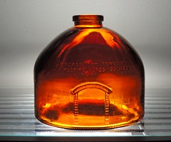 1981 Anchor Hocking Glass Furnace Replica Bottle (1) (The Glassworks) Tags: 1981 glass oven furnace replica anchorhocking 50th anniversary bottle winchester indiana embossed amber day tank kiln brown collectible commemorative history employee award