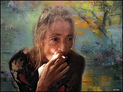 Reliving the past (bdira3) Tags: old lady engrossed thoughts atmospheric