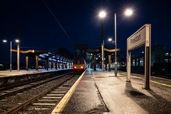 Resting Sprinter (Andrew Shenton) Tags: 150120 preston blue hour dawn frost cold railway