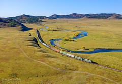 2TE116-1601 UBTZ/RŽD, Mandal - Shatang (Mongolia) (Martin Válek) Tags: rail railway railroad train locomotive zug eisenbahn vlak železnice mongolsko mongolei transmongolianrailway ulaanbaatarrailway kharaa