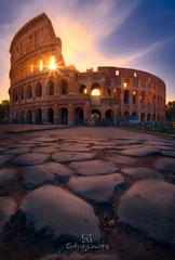 Panem et circenses (Gorka Vega Barbero) Tags: d750 focus stacking roma italia anfiteatro flavio coliseo amanecer sol suelo calzada romano romana viajes viajar ladscape nikon irix 15mm