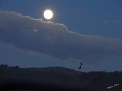Águas Frias (Chaves) - ... a lua aparecendo depois de sair por detrás das nuvens ... (Mário Silva) Tags: águasfrias aldeia trásosmontes chaves portugal ilustrarportugal madeinportugal lumbudos máriosilva dezembro 2019 outono lua noite nuvem anoitecer luar
