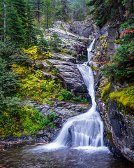 Aster Falls - Glacier National Park (j-rye) Tags: asterfalls fall glaciernationalpark ilce7rm2 landscape montana a7rm2 colors mirrorless nature rain rocks sony sonyalpha tamron2875 trees