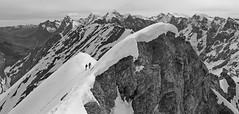 Space cadets (monochrome edition) (Alpine Light & Structure) Tags: switzerland schweiz suisse snow alps alpen alpes berneroberland berneseoberland blümlisalp