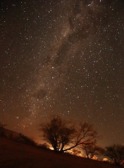 Namibian Night (peterkelly) Tags: digital canon 6d africa namibia intrepidtravel capetowntovicfalls spitzkoppe night tree space sky astronomy stars milkyway lights