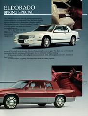 1990 Cadillac Eldorado Spring Special (aldenjewell) Tags: 1990 cadillac eldorado spring special edition coupe deville brochure