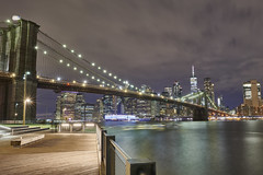 Brooklyn Bridge (Mark Wingfield) Tags: ater new york nikon dark light lowlight long lights brooklyn bridge sky river manhattan low landscape evening city skyline d850 dumbo hudsen tripod 24mm f14