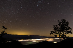Night Sky Over Townsend (yellocoyote) Tags: foothills parkway townsend tennessee tn united states america usa scenery night sky star stars fog mist city lights trees astrophotography astro landscape nature tourist attraction astronomy space byway