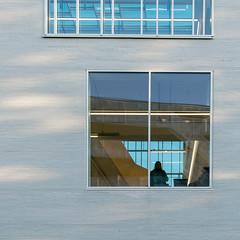Archi (godelieve b) Tags: architecture brussels square carré lines fenêtre window blue bleu lignes
