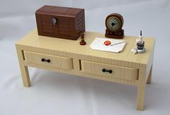 Little Desk (vitreolum) Tags: lego vitreolum desk letter clock chest candle