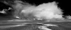 At Wells Beach  (mono) (andybam1955) Tags: landscape bigsky coastal wellsnextthesea sky seascape wellsbeach northnorfolk norfolk clouds