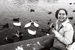 A day trip to Annapolis with a Belgian friend, January 1980 (A CASUAL PHOTGRAPHER) Tags: annapolis maryland portraits women photographers ducks europeans