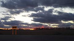 A December sunset in Ohio (D. C. Wilson) Tags: sunset cloud sky sun field road