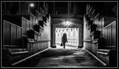 338/365 The long walk home! (B Ryder) Tags: nikon d500 18200mm lens street photography ayr south ayrshire scotland uk tunnel mono monochrome bw black white shapes light