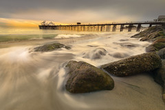 malibu pier christmas sunset-2 (dphotoman) Tags: sunset malibu pier long exposure waves beach ocean