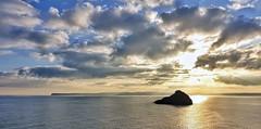 Winter sunshine over Thatcher's rock- Torbay (pike head) Tags: england uk sunset winter torbay southdevon devon omdem1mk2 olympus southwest