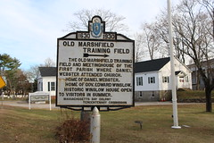 - Old Marshfield Tranning Field (Stephen St-Denis) Tags: massachusettsbaycolonytercentenarycommissionmarkershistoricalmarker marshfield massachusetts