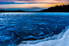 Landscape (lyytikainentimo) Tags: sky snow ice finland art landscape lake cold sunset mäntyharju europe beautiful silhouette fresh colors colorful patterning