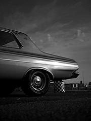 Plymouth b&w (heresthething...) Tags: plymouth belvedere 1965 monochrome bw santapodraceway patina dragracer mopar v8 muscle car auto classic american panasonic g9 lumix micro43rds mirrorless monochromia