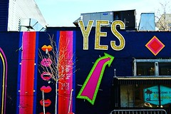 house of YES (Manhattan Girl) Tags: shellykayphotography bushwickbrooklyn architecture fun funky signs urban cityscapephotography