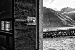 Out of the comfort zone (drugodragodiego) Tags: anfo vallesabbia provinciadibrescia lombardia italy lagodidro architecture landscape paesaggio door lake church italianchurch blackandwhite blackwhite bw biancoenero pentax pentaxk1 k1 pentaxdfa2470mmf28 hdpentaxdfa2470mmf28edsdmwr