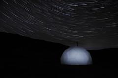 Stjörnuslóð (katrinasa22) Tags: startrail night stars black countryside nesjavellir star nightsky longexposure polestar dark iceland trail sky polaris white europe hill mountain
