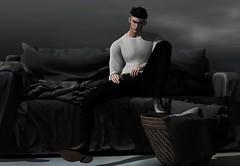 """And you say, """"As long as I'm here, no one can hurt you"""" (MATTY // *OMG*) Tags: sl secondlife men mens male blog blogger mesh style event tmd new fameshed modulus hair rkkn notsobad boots pants street fashion wear clothing clothes"""