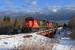 Departing Dos Harberos (CN Southwell) Tags: cn dmir iron range two harbors winter stormlight ge c408 minnesota north shore