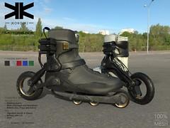 MotorBlade :: Unisex Roller :: 5 Colors (///////////////-//////////////) Tags: skate kokoia shoes ankle boots roller wheels maitreya belleza slink mesh signature rollerblade max secondlife 3d