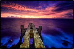 Pineapple Pier, Kealia, Kauai. (peterrath) Tags: seascape landscape water ocean sun sky clouds pier sunrise sunset canon eos 5dsr kauai hawaii kapaa