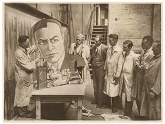 Theatrical poster and display artists, Sydney, ca. 1935, Sam Hood, c. 1935 (State Library of New South Wales collection) Tags: cinema movie promotions 1929 classic vintage sydney australia state library new south wales sam hood photographer display artists