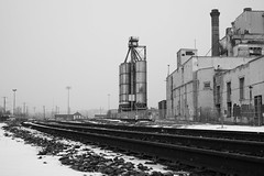 December 4, 2019 (tawburke_photo_a_day) Tags: blackwhite mono monochrome blackandwhite industrial urban rural decay traintracks snow winter calgary alberta fuji fujifilm xt3 fujifilmxt3 tyler burke tylerburke