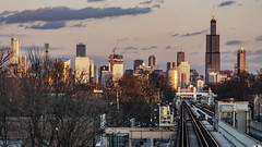 (jfre81) Tags: chicago garfield park green line cta el train tracks west side skyline cityscape landscape sunset dusk blue golden hour windy second city urban james fremont photography jfre81 canon rebel xs eos
