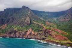 _5D39106 (dendrimermeister) Tags: kauai hawaii napali cliff canyon helicopter chopper aerial color landscape scenery