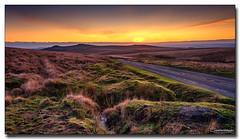 Across Dartmoor (jeremy willcocks) Tags: acrossdartmoor devon ukjeremywillcocksfujixt3xf1024mmnisilcpl 09mediumgrad landscape sunset moors colour sun hills tors road cars stream sky greatbritain england nationalpark jeremywillcocks wwwsouthwestscenesmeuk