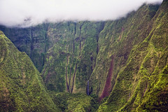 _5D39323 (dendrimermeister) Tags: kauai hawaii napali cliff canyon helicopter chopper aerial color landscape scenery mist cloud waterfall