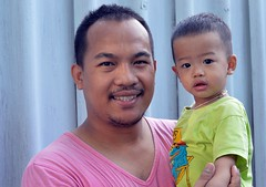 father and son (the foreign photographer - ฝรั่งถ่) Tags: father son child khlong lard phrao portraits bangkhen bangkok thailand nikon d3200 fathers day