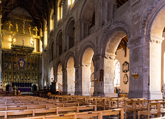 Wymondham Abbey. (Atlas Aerial and Land Photography) Tags: wymondham abbey parish church pews seats chairs arches sun christ jesus