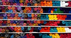 colorful stack (viveksanand) Tags: textile colors array lines