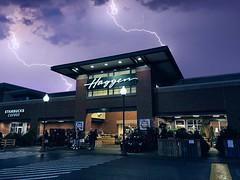 The power of Haggen (explore #370) [Dec 5 2019] (Thunderstormnightmare) Tags: stormy rainy cold cool pacificnorthwest pnw lakestevens wa washington storm lightning sky night dark light people store haggen amazing neat