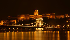 Chain Bridge and Buda Castle in Budapest Hungary...#110 (Guy Lichter Photography - 5.3M views Thank you) Tags: canon 5d3 hungary budapest chainbridge budacastle night lights hill water danuberiver danube river