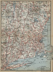New Hampshire New York Connecticut Massachusets Maine Vermont (silicon_press_uk) Tags: map baedeker cityplan streetplan 1909 new hampshire vermont massachusets