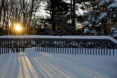 Snow long sunshine (robjvale) Tags: nikon d3200 sun snow sunset